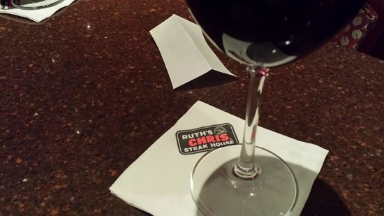 Ruth's Chris Steak House: The start of the evening - a delicious Malbec