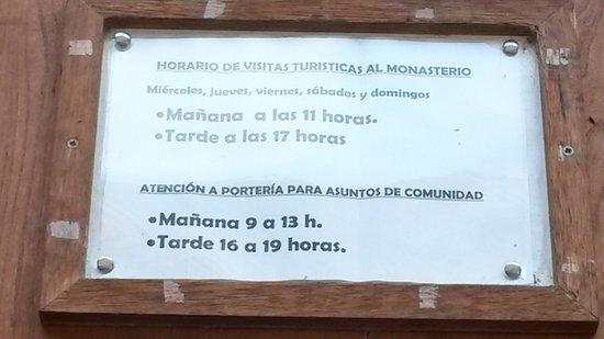 Monasterio del Parral: Horario de visita