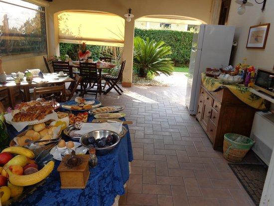 Ill Maggese : Terrasse du petit-déjeuner