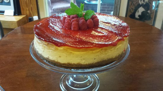 Pemberton Coffeehouse: NY style Raspberry Cheesecake