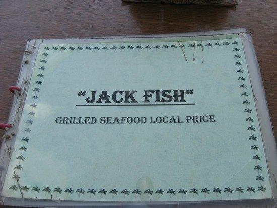Jack Fish: menu