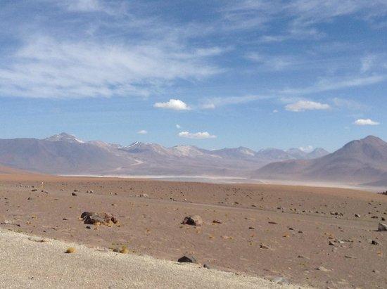 Lascar Volcano: Infelizmente não dá pra ver a fumaça que sai constantemente.
