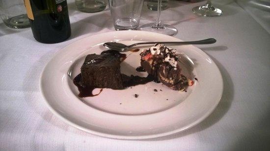 Osteria Michiletta: IL dessert (mousse al cioccolato e tenerina)