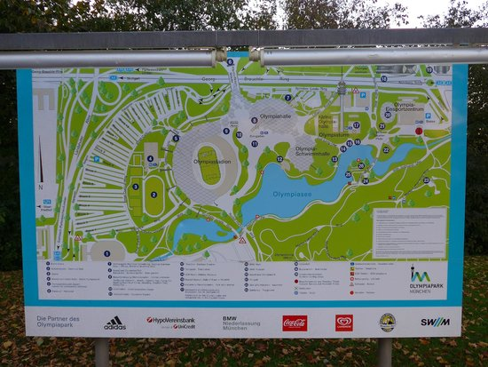 Olympiapark Munich Olympic Park Map