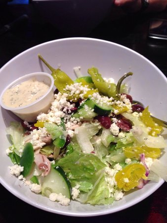 Small Greek salad. It was fresh and the dressing was excellent with the perfect mixture of ingr - Picture of Mellow Mushroom Bristol - Tripadvisor