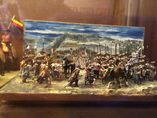 "L'Iber Museo de los Soldaditos de Plomo: Velazquez's ""Surrender of Breda"" (Prado, Madrid) recreated with toy soldiers"