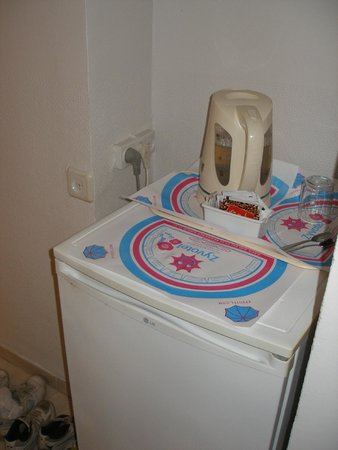 Residence Hotel: Холодильник и чайные приндлежности