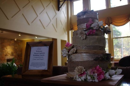 Golden Eagle Lodge: Wedding welcome for our guests!