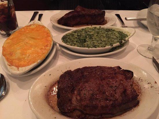 Ruth's Chris Steak House: Ribeye and NY steak