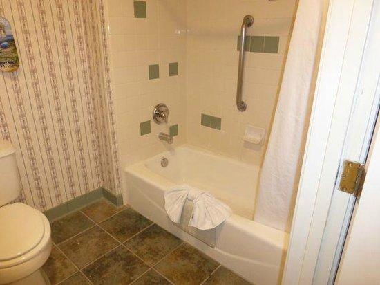 Comfort Inn & Suites: Nice shower - note towel