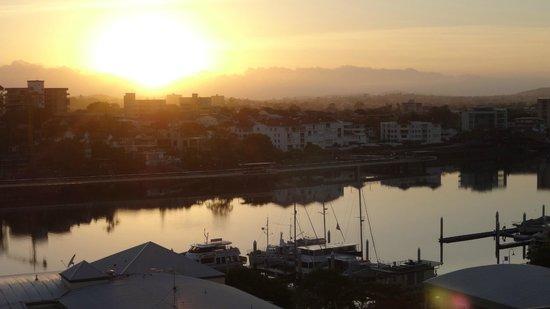 Sunrise over river