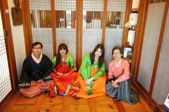 Bukchonmaru Hanok Guesthouse: Photo taken with House's Mother, during wearing Korean suit
