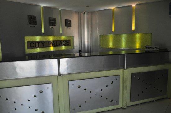 City Palace Hotel: Reception
