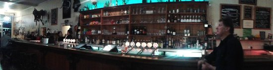 Star and Garter Hotel: inside our historic bar, all heart kauri from floor, walls to ceiling.
