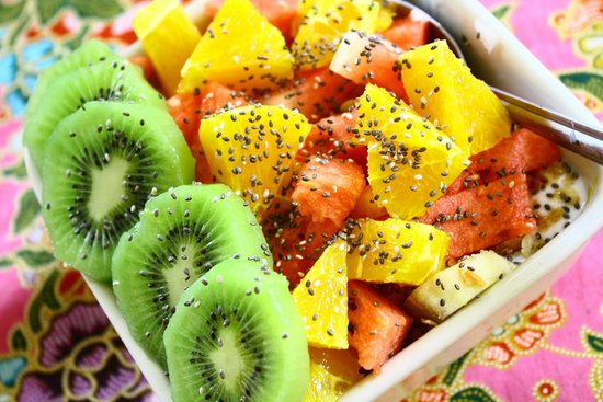 The Book Cafe: Fresh tropical fruit salad