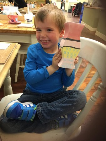 The Kiln: One very happy lad. This place is highly recommended by this little man lol.