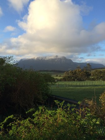 Carinya Farm Holiday Retreat: Mt Roland from the front veranda