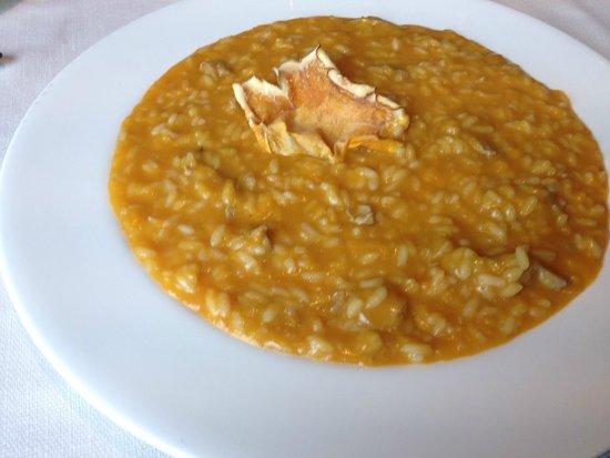 Real Fini Baia Del Re : risotto alla zucca e foie gras