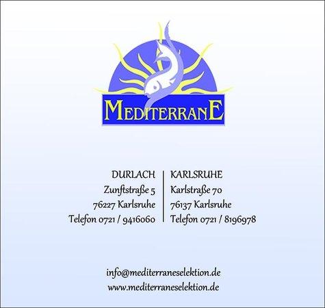 Mediterrane  Picture of Mediterrane Restaurant Selektion Durlach