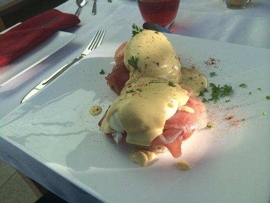 Eggs Benedict at Bure Lodge B&B