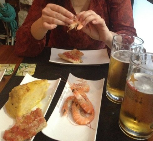 Restaurante Boga : Rejer, spansk omelet og øl