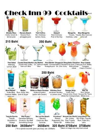 Checkinn99: Cocktails.. good range