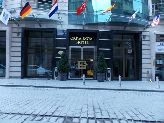 Entrance of Orka Royal Hotel