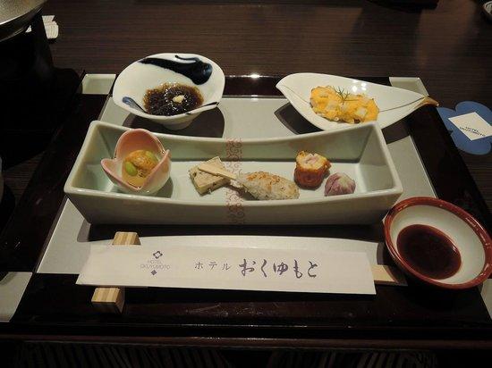 Hotel Okuyumoto: 夕食の基本セット