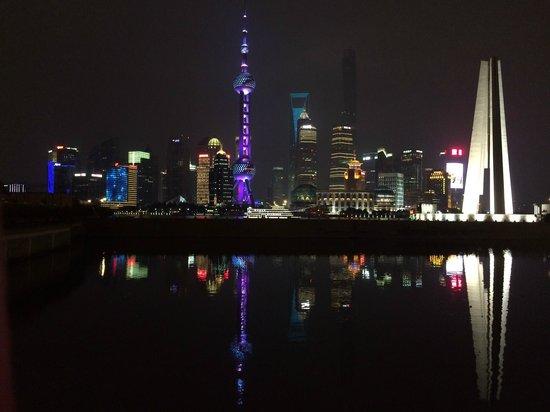 The Bund (Wai Tan): Ночной Шанхай