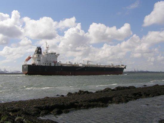 Hoek van Holland beach: Кораблик