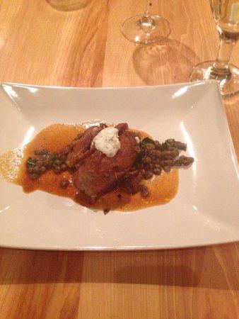LA FERME: Braised lamb Lentil purée  Jus