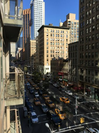 Living room picture of gansevoort park avenue nyc new for New york balcony view