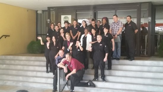 Crowne Plaza Hotel Reading: The staff posing for a picture