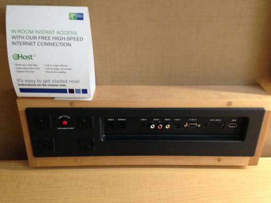 Holiday Inn Express & Suites Modesto-Salida: Desk has inputs for the TV.