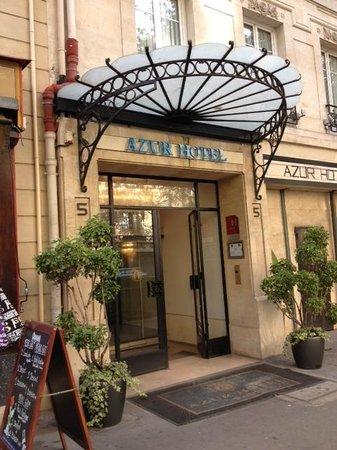 Hotel Azur: New entrance