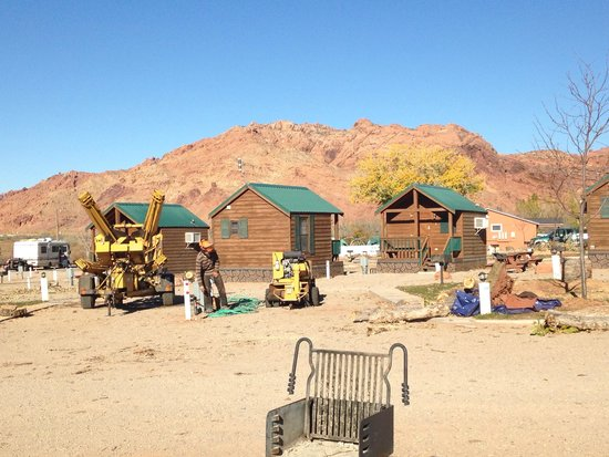 Moab Valley RV Resort & Campground: Tree machines everywhere!
