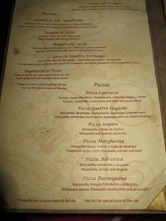 El Cid Restaurant Menu