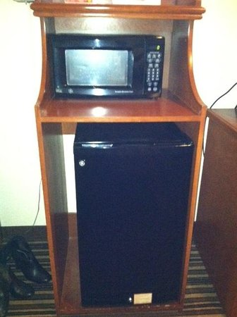Super 8 Austin/Airport South : Fridge and Microwave