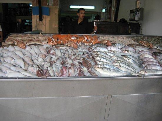 Al Bahriya Seafood Restaurant: Fish counter, where you choose your fish