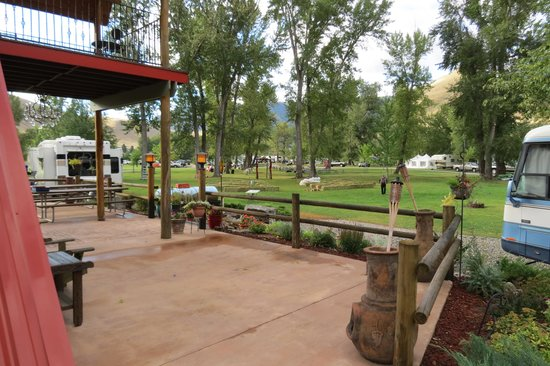 Wagonhammer RV Park & Campground: from the deck of the registration centre