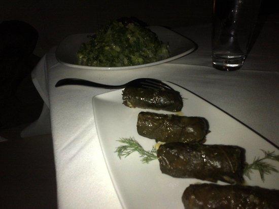Lithos Restaurant: Dolmades U0026 Shaved Romaine Salad