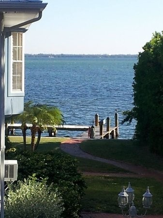 Little Gull Cottages: View of the bay from unit 15 wrap around deck.