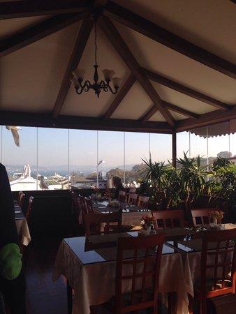 Hotel Centrum Istanbul : Veranda al sesto piano dell'hotel dedicata alla colazione