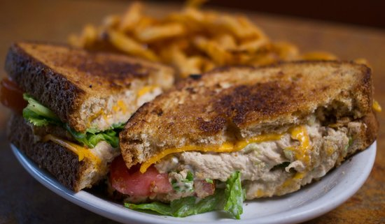 Image result for Tuna melt and fries