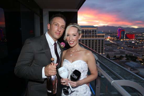 A Special Memory Wedding Chapel Our Balcony At The Cosmopolitan