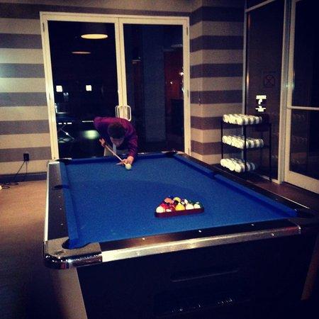 pool table by pool