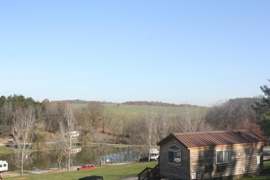 Staunton / Walnut Hills KOA: View from the upper pull through sites