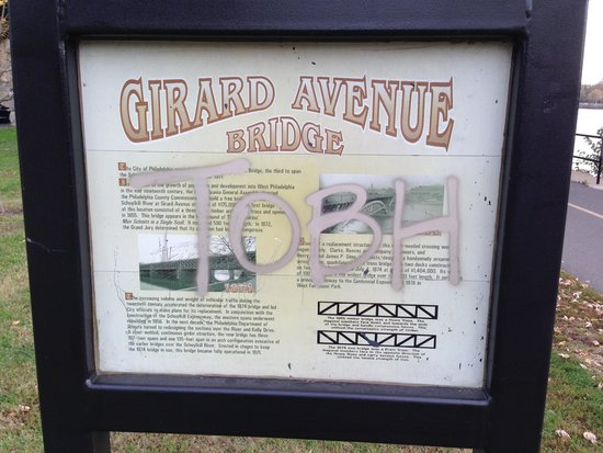 Fairmount Park: Girard Avenue Bridge sign