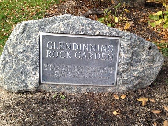 Fairmount Park: Glendinning Rock Garden