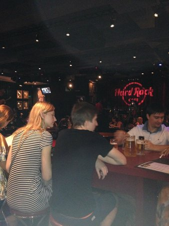 Hard Rock Cafe Pattaya: View from bar to the stage--great venue